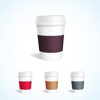 Nehmen sie kaffee tasse sammlung