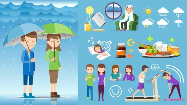 Nehmen sie während der regenzeit selbst die gesundheitsvorsorge in anspruch