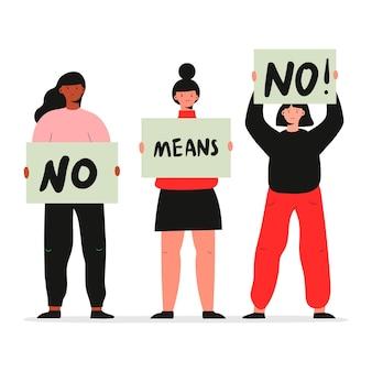 Nein bedeutet kein design