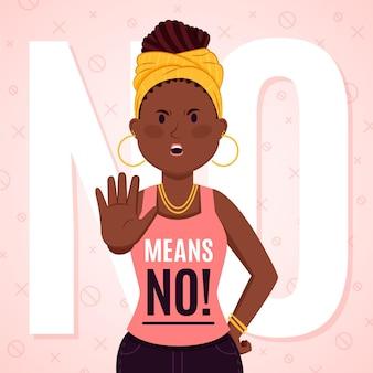 Nein bedeutet kein illustrationsstil