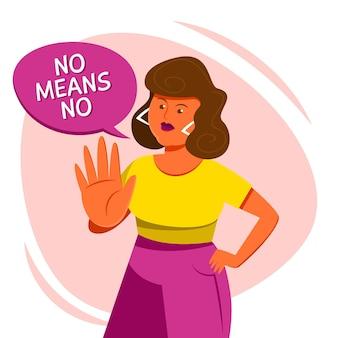 Nein bedeutet kein konzept