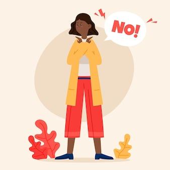Nein bedeutet keine illustration