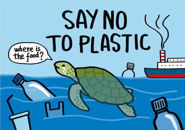 Nein zu plastik.