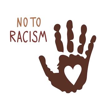 Nein zu rassismusstoppt die gewaltflache vektorillustration unterstützung der sozialen illustration