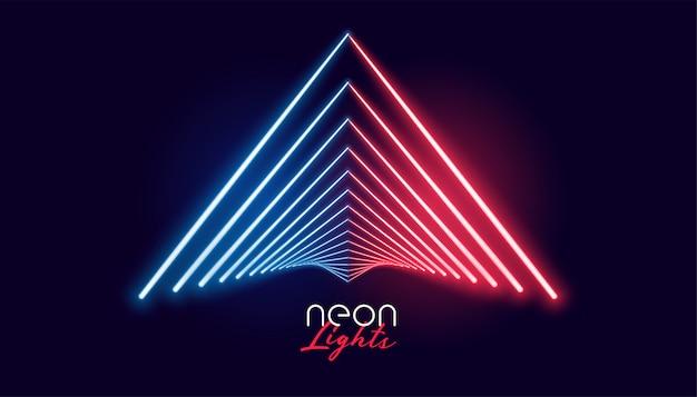 Nelights geometrische form in roter und blauer farbe