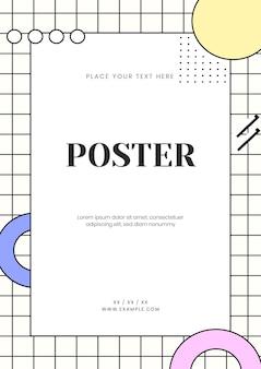 Neo memphis postervorlage
