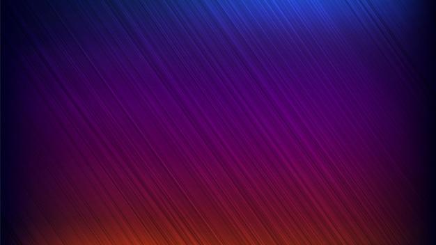 Neon abstrakte linien entwerfen auf gradientenhintergrund.