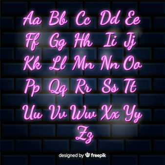 Neon-alphabet