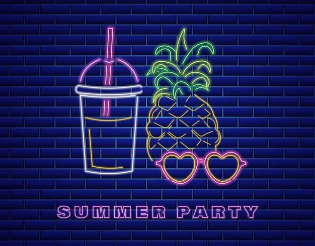 Neon-ananas-cocktail