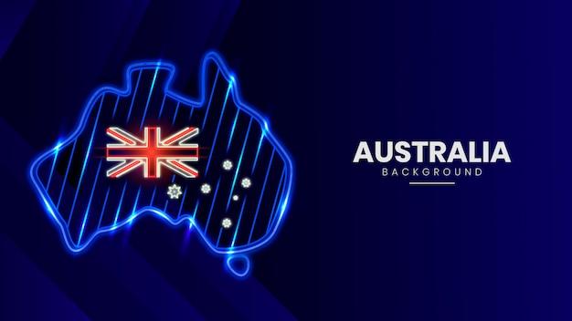 Neon australien karte