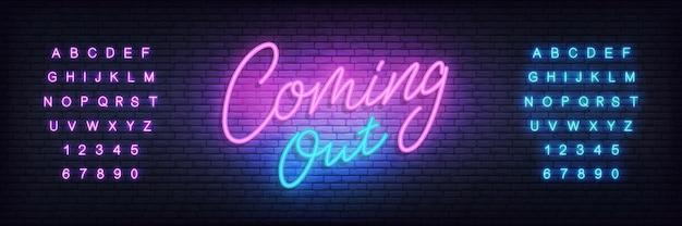 Neon-banner-vorlage herauskommen