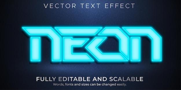 Neon bearbeitbarer texteffekt, esport und beleuchtet text