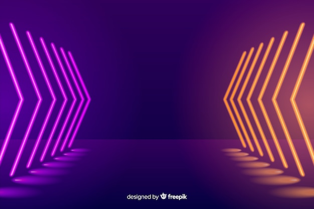 Neon beleuchtet bühnenhintergrund