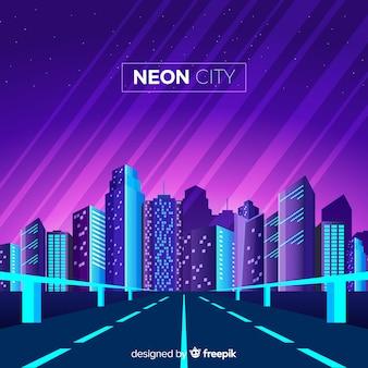 Neon city hintergrund