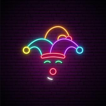 Neon-clown-zeichen
