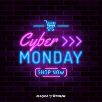 Neon cyber montag mit sonderangebot