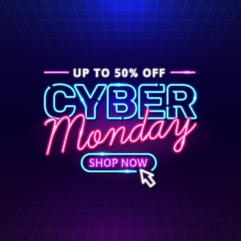 Neon cyber montag
