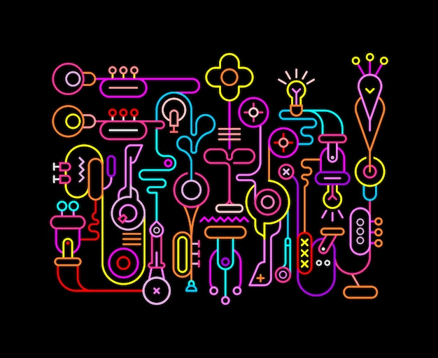 Neon der abstrakten kunst färbt abbildung