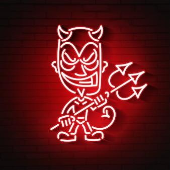 Neon des roten teufels