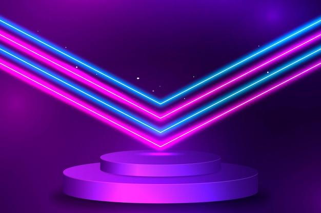 Neon-design mit buntem hintergrund