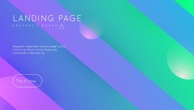 Neon-design. regenbogen-element. helle seite. violettes mobiles poster. flache landingpage. cooler moderner flyer. minimale form. bunte broschüre. magenta neon-design
