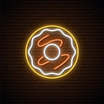 Neon donut zeichen.