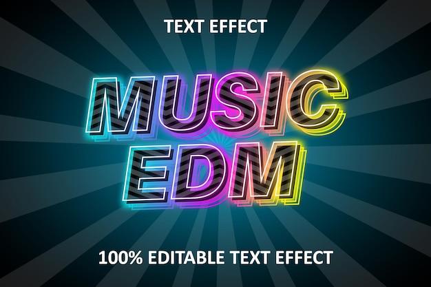 Neon editierbarer texteffekt rainbow stroke