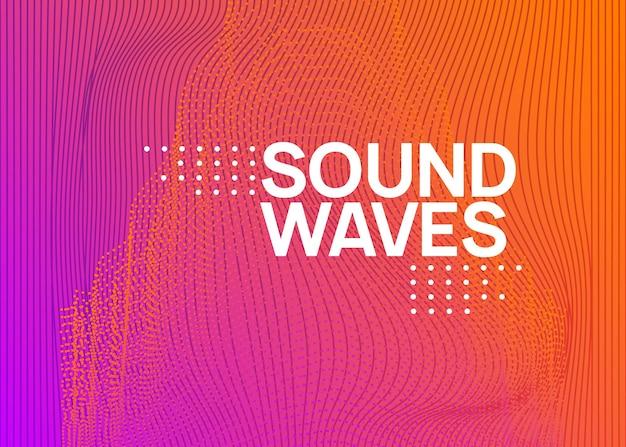 Neon-elektronischer festflyer. electro-dance-musik. trance-sound. c
