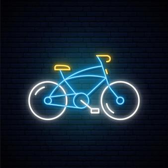 Neon fahrradschild.