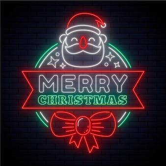 Neon frohe weihnachten konzept
