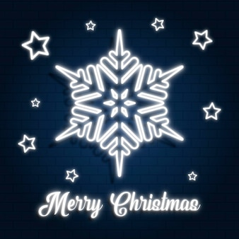 Neon frohe weihnachten vorlage
