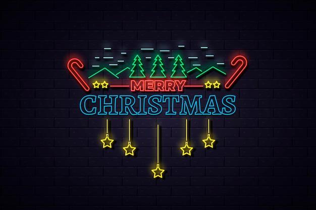 Neon frohe weihnachten