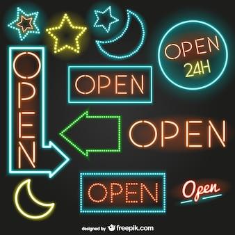 Neon geöffnet zeichen