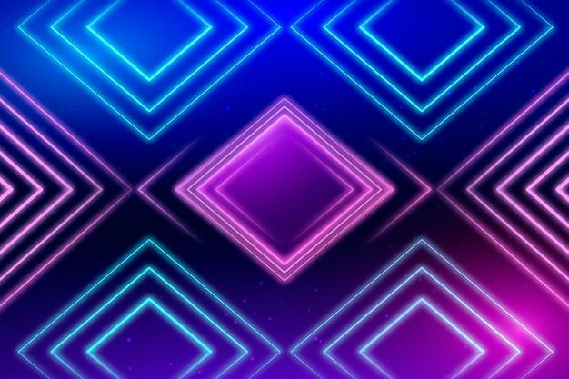 Neon geometrischer hintergrund