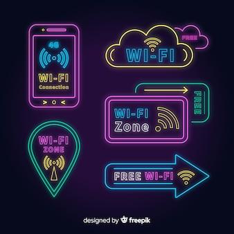 Neon kostenlose wifi-zeichen-auflistung