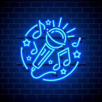 Neon-label-musik-karaoke-banner.