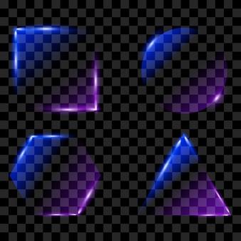 Neon leuchtende bilder eingestellt