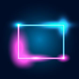 Neon leuchtende technolinien
