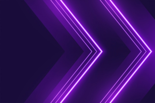 Neon lila lichter hintergrund im pfeilstil