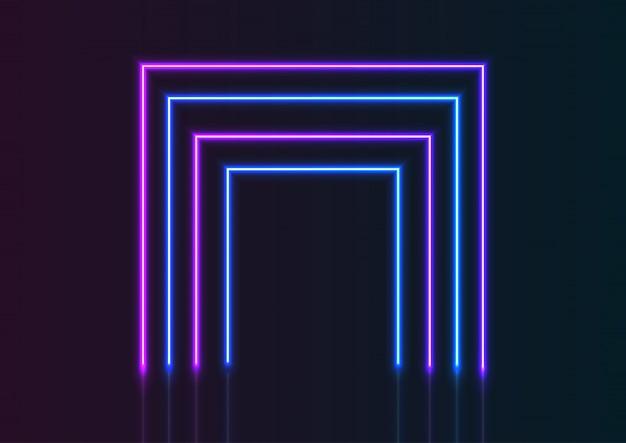 Neon linien hintergrund