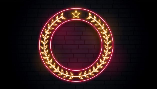 Neon lorbeerkranz zeichen