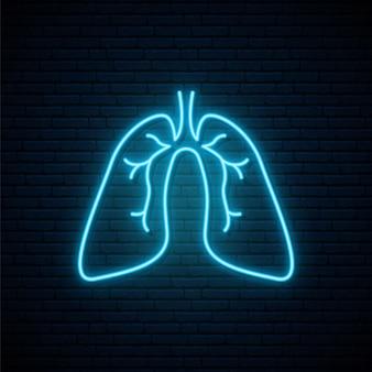 Neon lungen zeichen.
