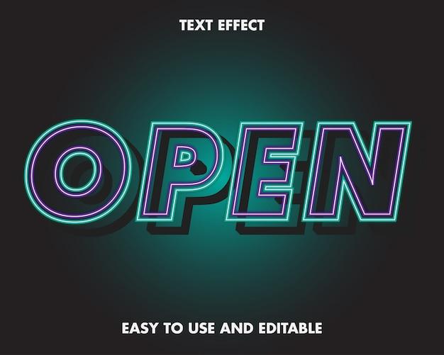 Neon modernes 3d-texteffektblau. vollständiger satz alphabet, nummer und symbol.