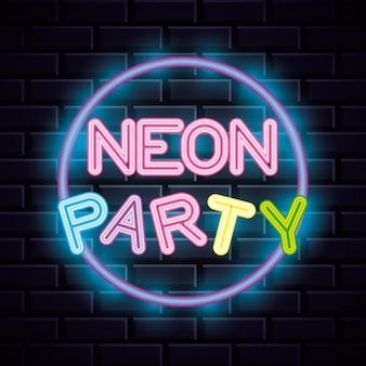 Neon party lichter zeichen