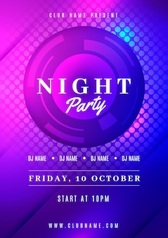 Neon-party-poster-design