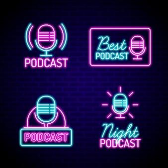 Neon podcast logo sammlung