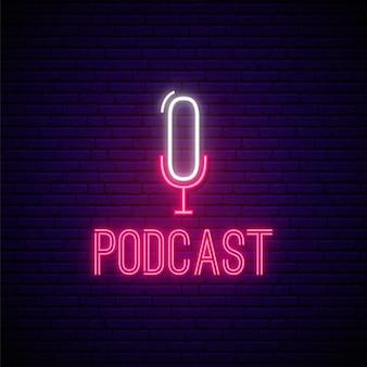 Neon podcast zeichen.