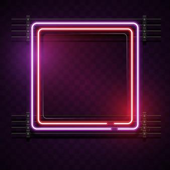 Neon quadratischen hintergrund