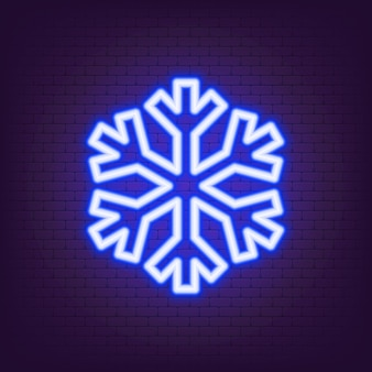 Neon-schneeflocke-symbol. kaltes logo. elemente von eco in neon-stil-ikonen. einfaches neonflammensymbol. abkühlungszeichen. vektor-eps 10.