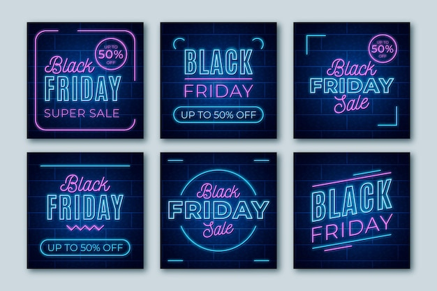 Neon schwarzer freitag instagram beiträge